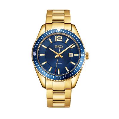 Esq Mens Gold Tone Bracelet Watch-37esq016201a