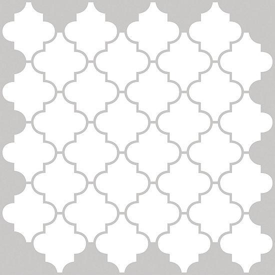 Brewster Wall Quatrefoil Peel & Stick Backsplash Tiles Wall Decal