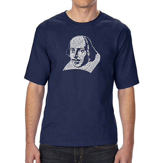 Los Angeles Pop Art Mens Tall And Long Word Art T Shirt The Titles Of All Of William Shakespeares Comedies Tragedies