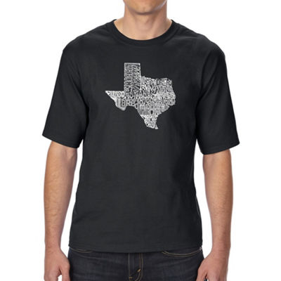 Los Angeles Pop Art Men's Tall and Long Word Art T-shirt - The Great State of Texas