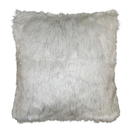 Metallic Greer Square Throw Pillow