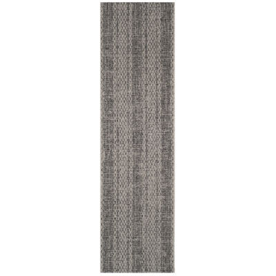 Safavieh Courtyard Collection Elena Geometric Indoor/Outdoor Runner Rug