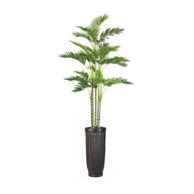 89 Inch Tall Palm Tree In Cylinder Planter