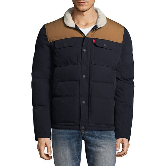 Levi's® Color Block Puffer Shirt Jacket