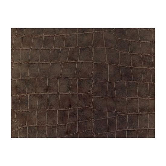Brewster Wall Crocodile Brown Adhesive Film Wall Decal