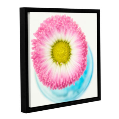 Pink Edge 2 Floater-Framed Gallery Wrapped Canvas