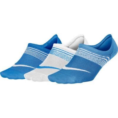 Nike Womens 3 Pk Performance Lightweight Footie Socks