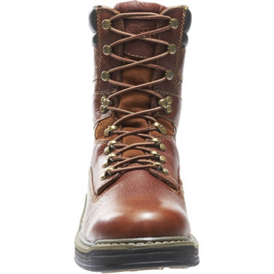 Wolverine Mens Raider Lace Up Slip Resistant Work Boots Lace-up