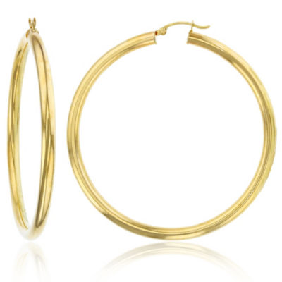 14K Gold 60mm Hoop Earrings