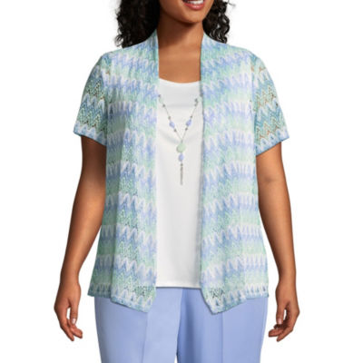 Alfred Dunner Day Dreamer Zig Zag Layered Blouse - Plus