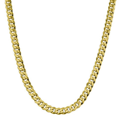 10K Gold 20 Inch Solid Curb Chain Necklace
