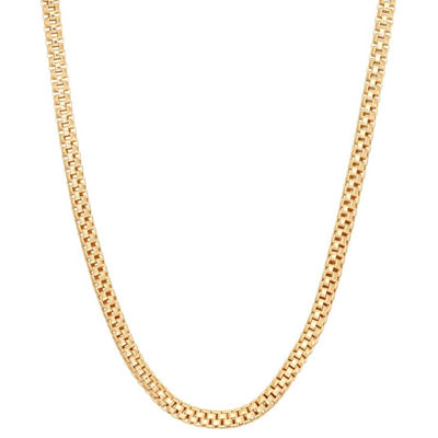 Womens 16 Inch 14K Gold Over Silver Link Necklace