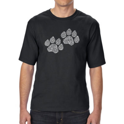 Los Angeles Pop Art Men's Tall and Long Word Art T-shirt - Woof Paw Prints