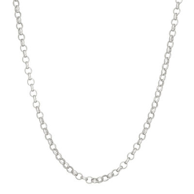 16 Inch Solid Link Chain Necklace