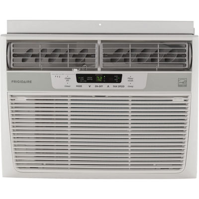 Frigidaire 12000 BTU 115V Window-Mounted Compact Air Conditioner with Temperature Sensing Remote Control