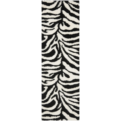 Safavieh Shag Collection Lennox Animal Runner Rug