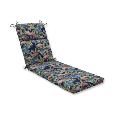 Pillow Perfect Flamingoing Lagoon Patio Chaise Lounge Cushion