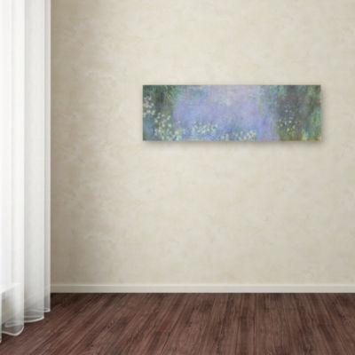 Trademark Fine Art Monet The Water Lillies MorningGiclee Canvas Art