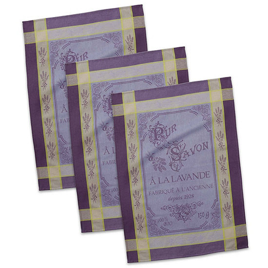 French Pure Savon Jacquard Dishtowel Set - Set of3