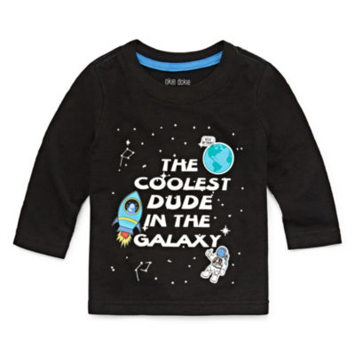 Okie Dokie Space Astronaut Long Sleeve T-Shirt-Baby Boy NB-24M