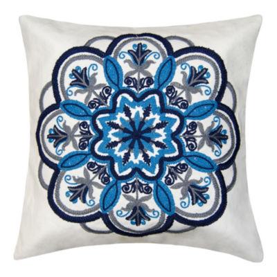 Medallion Square Throw Pillow