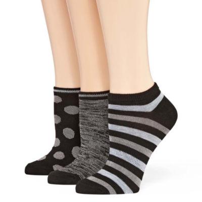 Mixit 3 Pair No Show Socks - Womens
