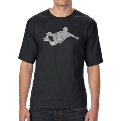 Los Angeles Pop Art Men's Tall and Long Word Art T-shirt - POPULAR SKATING MOVES & TRICKS
