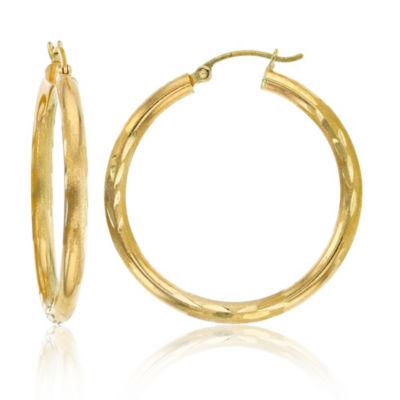 14K Gold 35mm Hoop Earrings