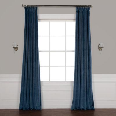 Exclusive Fabrics & Furnishing Plush Velvet Curtain Panel