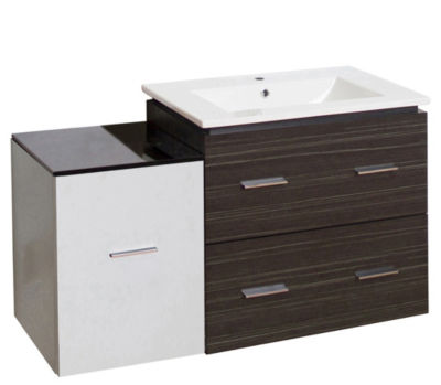37.75-in. W Wall Mount Dawn Grey Vanity Set For 1Hole Drilling