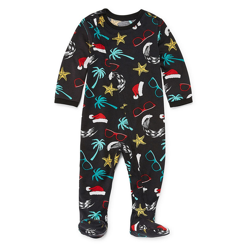 Footed North Pole Trading Company Good Tidings 1 Piece Pajama Set -Baby Unisex, Size 12 Months