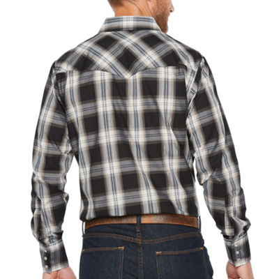 Ely Cattleman Long Sleeve Checked Snap-Front Shirt