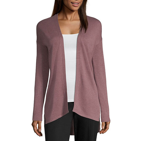 Worthington Womens Long Sleeve Open Front Cardigan - JCPenney d9e67a4fd