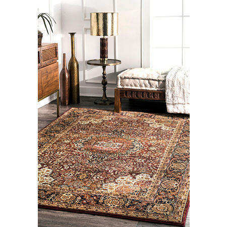 nuLoom Foust Medallion Area Rug, One Size , Red