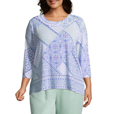 Alfred Dunner Day Dreamer Patchwork Tee- Plus