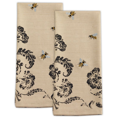 Busy Bees Embroidered Dishtowel Set - Set of 2