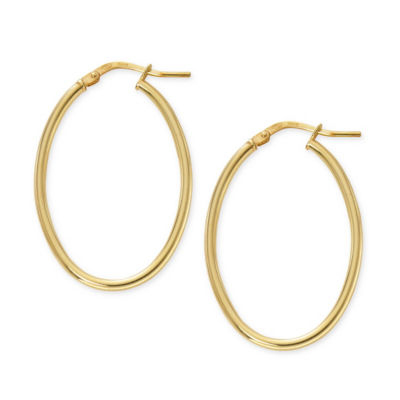 Made In Italy 24K Gold Over Silver Sterling Silver 30mm Hoop Earrings
