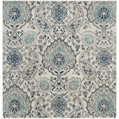 Safavieh Madison Collection Baldric Floral SquareArea Rug