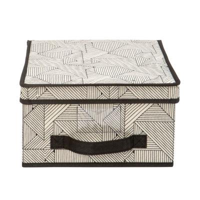 Non-Woven Storage Box-Medium 11X12X6 - Geo Natural