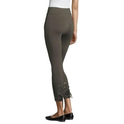 Mixit Lace Up Calf Capri Leggings