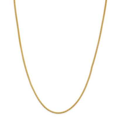 Made in Italy 24K Gold Over Silver Sterling Silver 18 Inch Solid Rope Chain Necklace