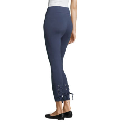 Mixit Lace Up Calf Capri Leggings