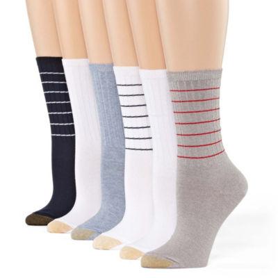 Gold Toe 6 Pair Crew Socks - Womens