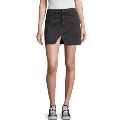 Tinseltown Denim Skirt-Juniors