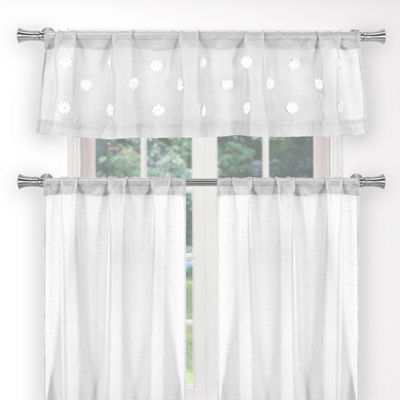 Duck River Dawn Faux Linen 3-Piece Kitchen Curtain
