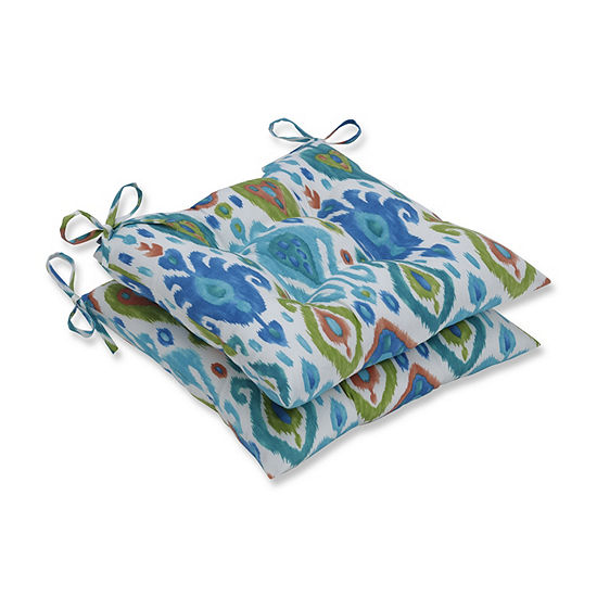 Pillow Perfect Set of 2 Paso Caribe Wrought Iron Patio Seat Cushion