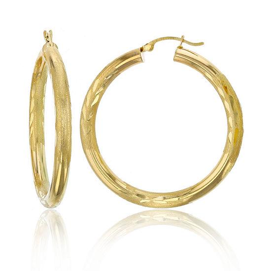 14K Gold 40mm Hoop Earrings
