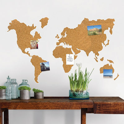 Brewster Wall Cork Map Pinboard Wall Decal