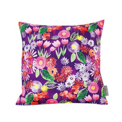 Sara B Spring Flowers Square Pillow