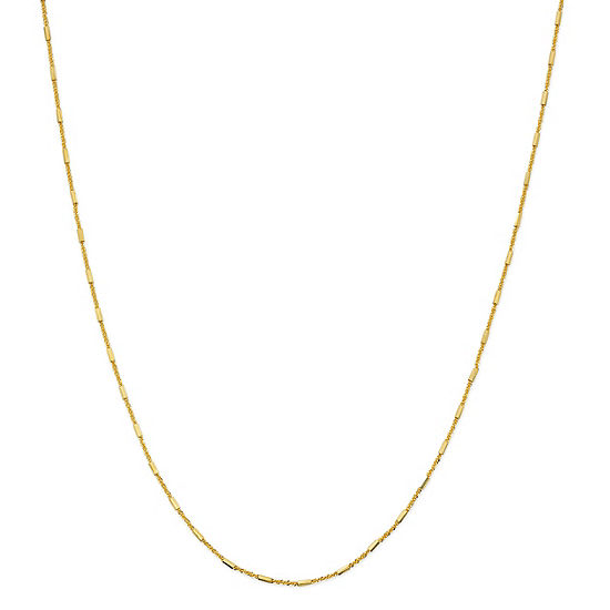 Made in Italy 24K Gold Over Silver Sterling Silver 18 Inch Solid Bead Chain Necklace